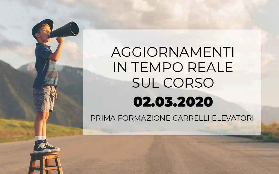 News Corso 2 marzo – Base Carrelli